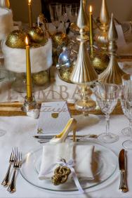 Tavolo Natale Oro - Dettaglio 01
