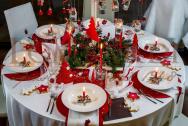 Tavolo Natale Rosso