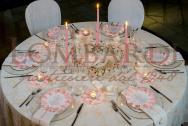 Tavolo bianco & rosa
