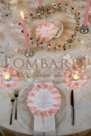 Tavolo bianco & rosa - Dettaglio