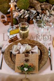 Tavolo legno con muschio - Dettaglio
