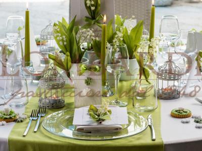Tavolo verde mela - Dettaglio