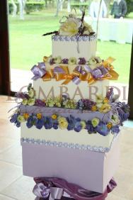Torta_base-quadrata_nastri+fiori