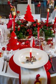 Tavolo Natale Rosso - Dettaglio